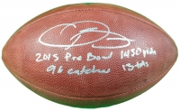 """Odell Beckham Jr. Signed Limited Edition """"The Duke"""" NFL Official Game Ball with (4) Rookie Record Inscriptions #1/13 (Steiner COA)"""