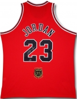 Michael Jordan Signed Limited Edition 2009 Bulls HOF Authentic Jersey #1/123 (UDA COA)