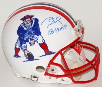 "Tom Brady Signed Limited Edition Patriots Full-Size Authentic Pro-Line Throwback Helmet Inscribed ""SB 49 MVP"" #12/12 (Tristar Hologram & Steiner COA)"
