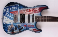 "Henrik Lundqvist Signed Limited Edition Rangers Electric Guitar Inscribed ""NYR All Time Wins Leader"" #1/30 (Steiner COA)"