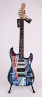 """Henrik Lundqvist Signed Limited Edition Rangers Electric Guitar Inscribed """"NYR All Time Wins Leader"""" #1/30 (Steiner COA) at PristineAuction.com"""