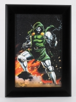 """Doctor Doom"" 15"" x 21"" Custom Framed Textured Lithograph"