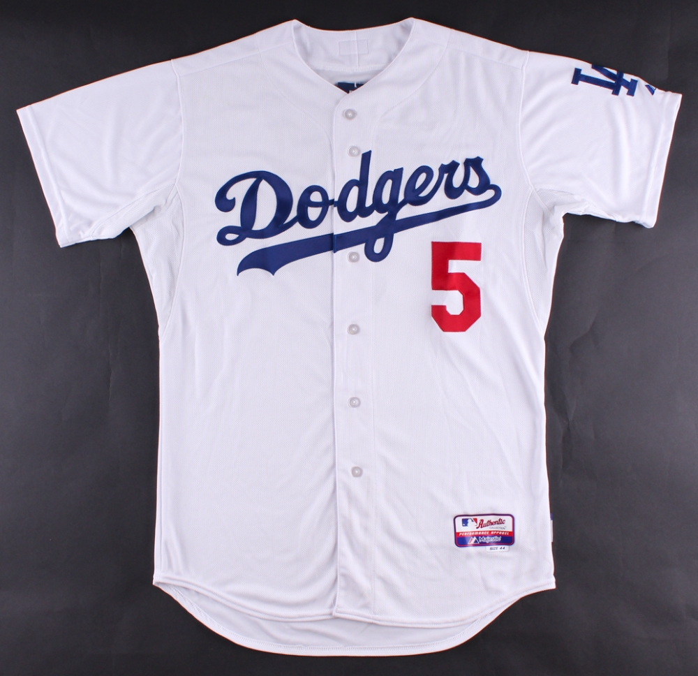 ... wholesale corey seager signed dodgers jersey mlb hologram at  pristineauction d17cb da8d0 sweden womens ... afc7491096a