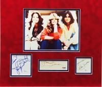 "Farrah Fawcett, Kate Jackson & Jaclyn Smith Signed ""Charlie's Angels"" 18"" x 20"" Custom Framed Display (PSA & JSA COA)"