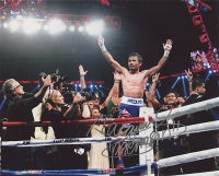 """Manny Pacquiao Signed 8x10 Photo Inscribed """"Pacman"""" (Pacquiao COA)"""