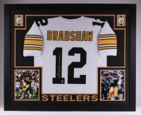 "Terry Bradshaw Signed Steelers 35"" x 43"" Custom Framed Jersey (GTSM) at PristineAuction.com"