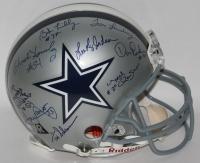 Cowboys Ring of Honor Helmet Signed by (9) with Bob Lilly, Tom Landry, Don Perkins, Randy White, Tony Dorsett (JSA ALOA)