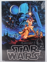 "Greg Hildebrandt Signed LE 20"" x 28"" ""Stars Wars"" Poster With Hand-Drawn Sketch (PA LOA)"