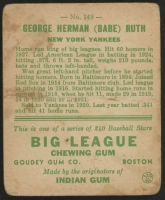 1933 Goudey #149 Babe Ruth RC at PristineAuction.com
