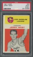 1961-62 Fleer #43 Jerry West RC (PSA 9) (MC)