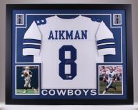 "Troy Aikman Signed Cowboys 35"" x 43"" Custom Framed Jersey (JSA COA & Aikman Hologram)"