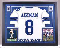 Troy Aikman Signed Cowboys 35x43 Custom Framed Jersey (JSA COA & Aikman Hologram)