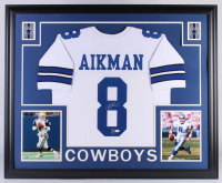 Troy Aikman Signed Dallas Cowboys 35x43 Custom Framed Jersey (JSA COA & Aikman Hologram)