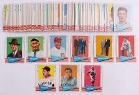 1961 Fleer Complete Set of (154) Baseball Greats Cards with #1 Frank Baker / Ty Cobb / Zack Wheat, #153 Cy Young, #75 Babe Ruth, #31 Lou Gehrig, #150 Honus Wagner, #14 Ty Cobb, #152 Ted Williams, #154 Ross Young, #89 George Sisler / Pie Traynor
