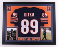 Mike Ditka Signed Bears 35x43 Custom Framed Jersey (JSA COA) at PristineAuction.com