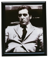 "Al Pacino Signed ""Godfather"" 22"" x 25"" Custom Framed Canvas Display (PSA COA)"