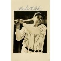 """Babe Ruth Signed Yankees 3"""" x 5.5"""" Photo (JSA LOA)"""
