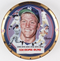 """Mickey Mantle """"536 Home Runs"""" LE Yankees Sports Impressions Porcelain Plate at PristineAuction.com"""