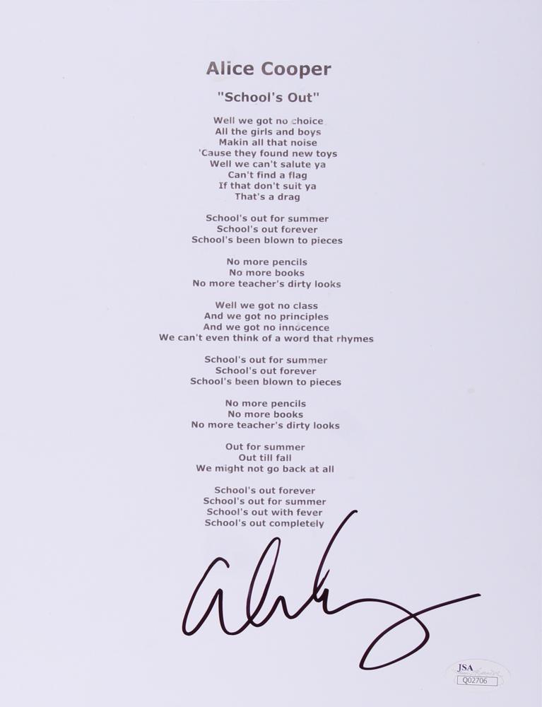 3dd9ce13d8c4 Alice Cooper Signed