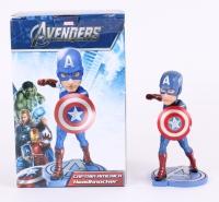 "Stan Lee Signed Marvel ""Captain America"" 7"" Head Knocker (Stan Lee Hologram)"