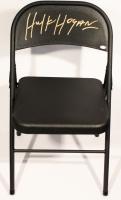 Hulk Hogan Signed Black Metal Folding Chair (JSA)