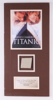 """Titanic"" Custom Matted Display with Authentic Piece of Prop Ship From the Movie (Condon COA)"