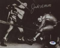 Jake LaMotta Signed 8x10 Photo (PSA COA)