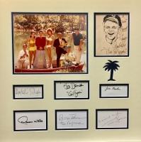 """""""Gilligan's Island"""" 19"""" x 19"""" Custom Framed Photo Display Signed by (8) with Bob Denver, Alan Hale Jr., Jim Backus, Natalie Schafer (JSA LOA)"""