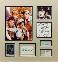"""""""The Andy Griffith Show"""" 17"""" x 18"""" Custom Framed Cut Display Signed by (5) with Andy Griffith, Ron Howard, Jim Nabors, Don Knotts & George Lindsey (JSA LOA)"""