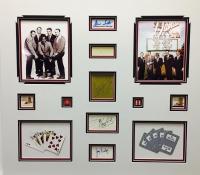 """Rat Pack"" 33"" x 37"" Custom Framed Cut Display Signed by (5) with Frank Sinatra, Sammy Davis, Jr., Joey Bishop, Peter Lawford & Dean Martin (JSA LOA, ALOA & COA)"