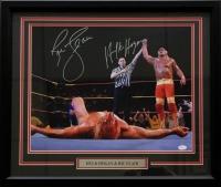 Hulk Hogan & Ric Flair Signed WWE 22x27 Custom Framed Photo (JSA COA)