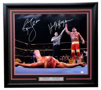 Hulk Hogan & Ric Flair Signed WWE 22x27 Custom Framed Photo (JSA COA) at PristineAuction.com
