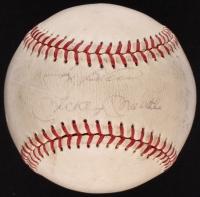 Mickey Mantle, Yogi Berra, Roger Maris, & Ralph Houlk Signed OAL Baseball (JSA LOA & Beckett LOA)