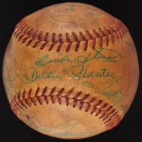1959 All-Stars Signed Baseball Signed by (22) with Mickey Mantle, Ted Williams, Yogi Berra, Nellie Fox, Casey Stengel (JSA LOA)