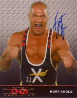 Kurt Angle Signed TNA 8x10 Photo (SI COA)