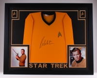 "William Shatner Signed Star Trek 35"" x 43"" Custom Framed Uniform (JSA COA)"