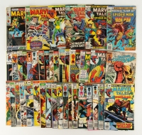 Lot of (40) Vintage MARVEL Comic Books with Spider-Man 1961 #131, 1969 #20, #21, 1970 #25, #26, 1972 #36, 1973 #42, #44, #45, #46, 1974 #19, #50, #53, #56, 1975 #63, 1976 #43, #48, #65, #71, 1977 #78, #79, 1978 #73, #87, #88, #89, #92, 1979 #85, #107, 198