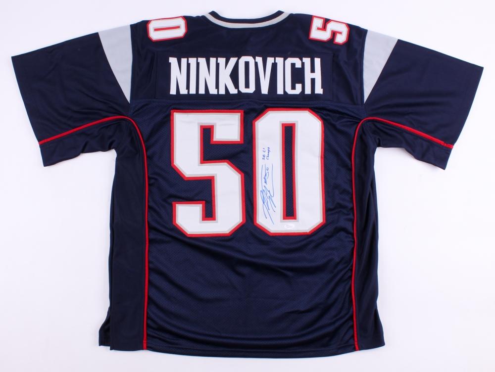 Rob Ninkovich Signed Patriots Jersey Inscribed