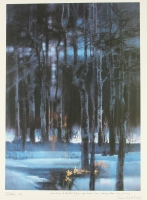 "Bob Peak ""Spirit Of Sports (Trees With Snow)"" 24.5""x17.5"" Lithograph"