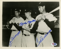 Joe Dimaggio, Mickey Mantle & Ted Williams Signed 8x10 Photo (PSA)