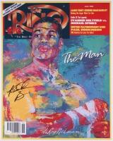 Riddick Bowe Signed The Ring Magazine Cover 16x20 Photo (JSA COA)