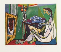 "Picasso LE ""Woman Drawing Before a Mirror"" 11.5"" x 13"" Giclee one Fine Art Paper (Picasso COA)"