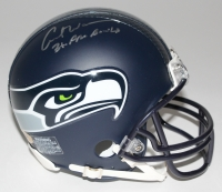 "Curt Warner Signed Seahawks Matte Black Mini Helmet Inscribed ""3x Pro-Bowl"" (MAB Hologram)"
