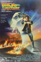 "Christopher Lloyd & Michael J. Fox Signed ""Back To The Future"" 27x40 Movie Poster (PSA LOA)"