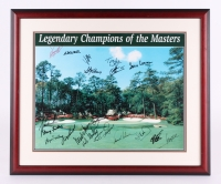 """Legendary Champions of the Masters"" 24.5"" x 29.75"" Custom Framed Photo Display Signed by (20) Including Tiger Woods, Arnold Palmer, Doug Ford, Tom Watson (JSA ALOA)"