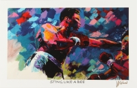 """Muhammad Ali 11x17 """"Sting Like A Bee"""" Signed Winford Lithograph (Winford COA)"""