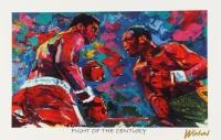 "Muhammad Ali Vs. Joe Frazier 11x17 ""Fight Of The Century"" Signed Winford Lithograph (Winford COA)"