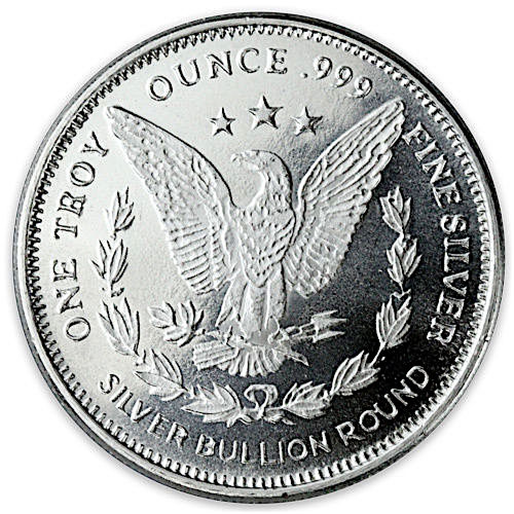 Morgan Dollar Design 1 Oz 999 Fine Silver Round From