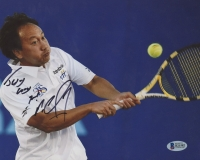"Michael Chang Signed 8x10 Photo Inscribed ""Jesus Loves You"" (Beckett COA)"