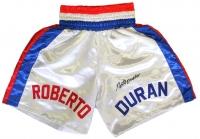 Roberto Duran Signed Boxing Trunks (JSA COA)